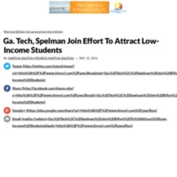 Ga. Tech, Spelman Join Effort To Attract Low-Income Students | WABE 90.1 FM.pdf