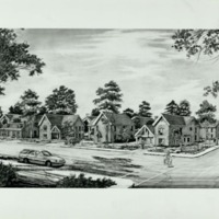 Artist Rendering of New Homes to be Built in Vine City (1990)