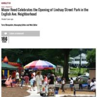 Mayor Reed Celebrates opening of Lindsay St. Park on English Ave | Atlanta Daily World.pdf